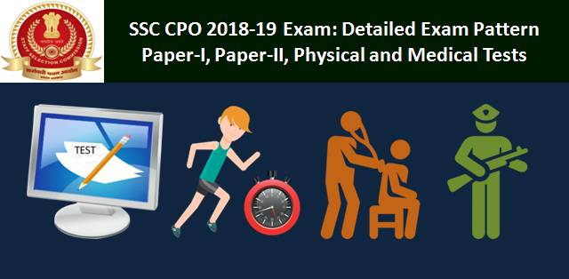 SSC CPO 2018-2019 Exam Pattern: Paper-I, Paper-II, Physical