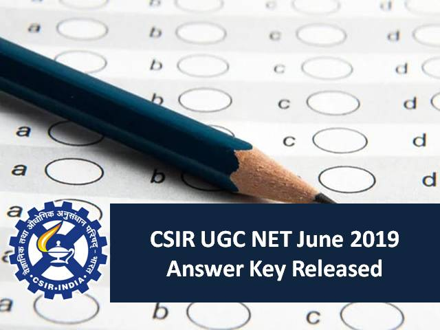 CSIR UGC NET 2019 Answer Key Released: Download the PDF of