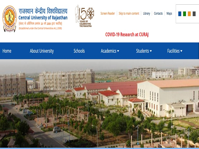 Central University of Rajasthan Recruitment 2020: Apply for Assistant Professor Posts