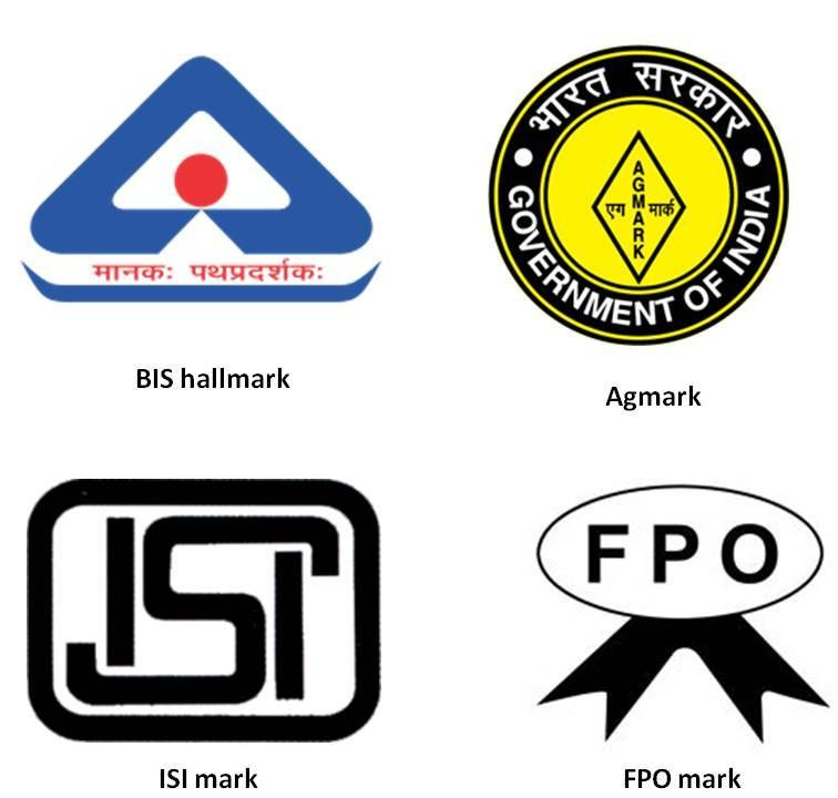 Certification Marks issued for different products in India