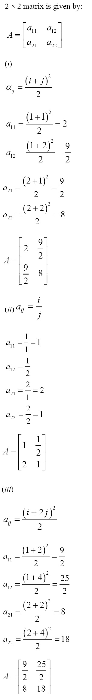 NCERT Solutions for CBSE Class 12 Mathematics ‒ Chapter 3: Matrices [Exercise 3.1; solution 4]