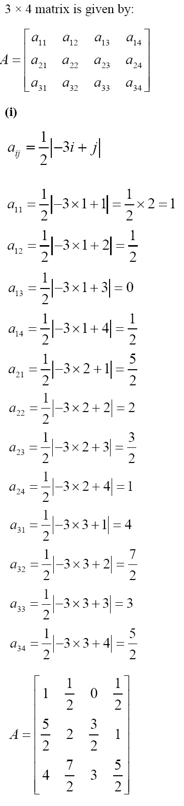 NCERT Solutions for CBSE Class 12 Mathematics ‒ Chapter 3: Matrices [Exercise 3.1; solution 5 (i)]