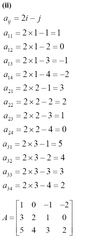 NCERT Solutions for CBSE Class 12 Mathematics ‒ Chapter 3: Matrices [Exercise 3.1; solution 5 (ii)]