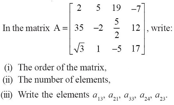 NCERT Solutions for CBSE Class 12 Mathematics ‒ Chapter 3: Matrices [Exercise 3.1; question 1]