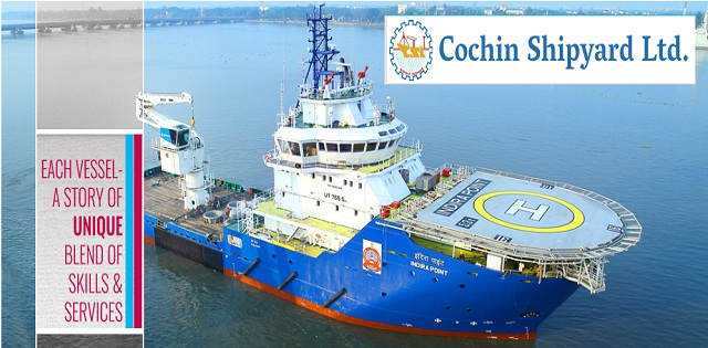 Cochin Shipyard Limited Project Assistants Posts Job 2018