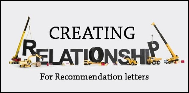 Creating relationships for recommendation letters