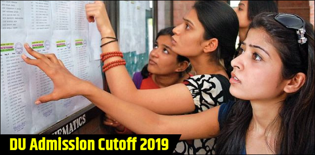DU Admission 2019 Cutoffs | Delhi University 2019 Cutoff – Category-wise
