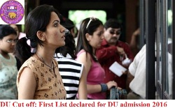 DU first cut off list