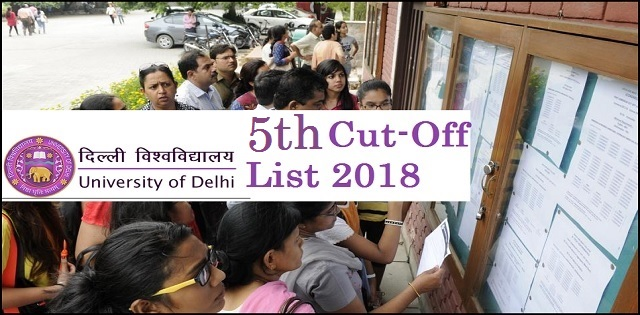 DU Fifth Cut off list 2018