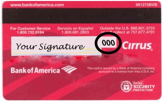 Debit Card CVV Number