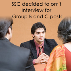 SSC decided to omit Interview