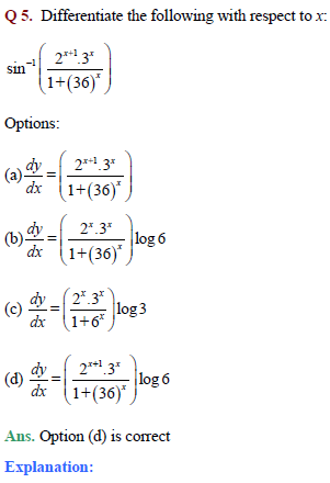 JEE Derivatives Important questions