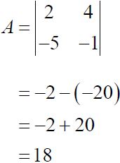 NCERT Solutions for CBSE Class 12 Mathematics ‒ Chapter 4: Determinant (Exercise 4.1, Solution 1)