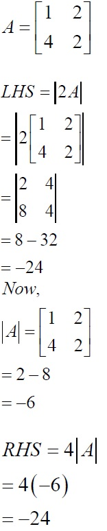 NCERT Solutions for CBSE Class 12 Mathematics ‒ Chapter 4: Determinant (Exercise 4.1, Solution 3)