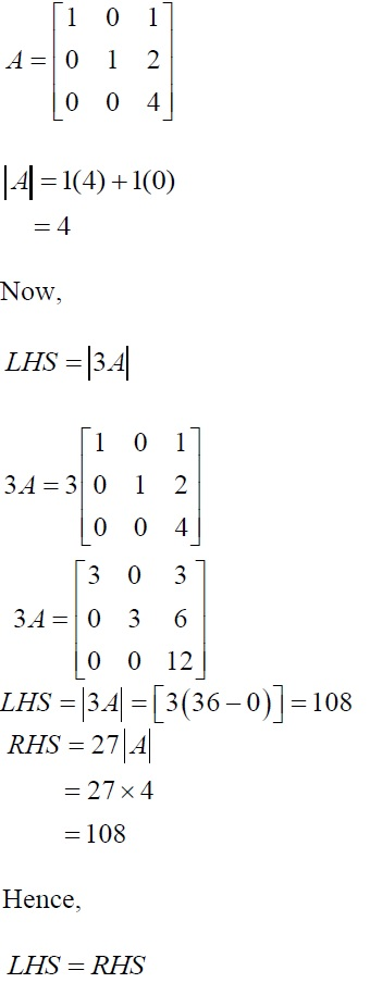 NCERT Solutions for CBSE Class 12 Mathematics ‒ Chapter 4: Determinant (Exercise 4.1, Solution 4)