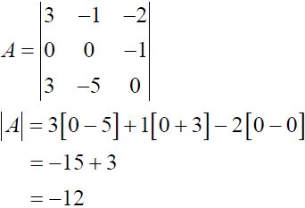 NCERT Solutions for CBSE Class 12 Mathematics ‒ Chapter 4: Determinant (Exercise 4.1, Solution 5 - i)