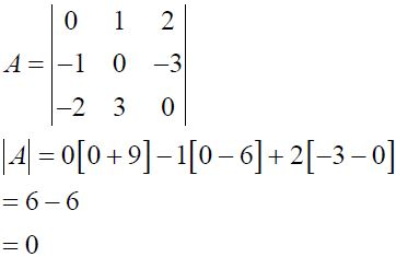 NCERT Solutions for CBSE Class 12 Mathematics ‒ Chapter 4: Determinant (Exercise 4.1, Solution 5 - ii)