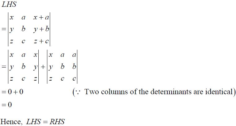 NCERT Solutions for CBSE Class 12 Mathematics ‒ Chapter 4: Determinant, Exercise 4.2 (Solution 1)