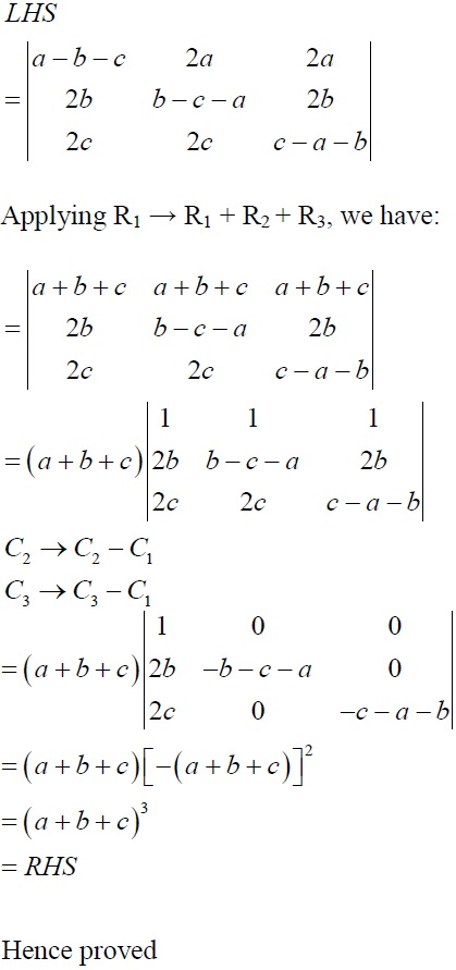 NCERT Solutions for CBSE Class 12 Mathematics ‒ Chapter 4: Determinant, Exercise 4.2 (Solution 11 - i)