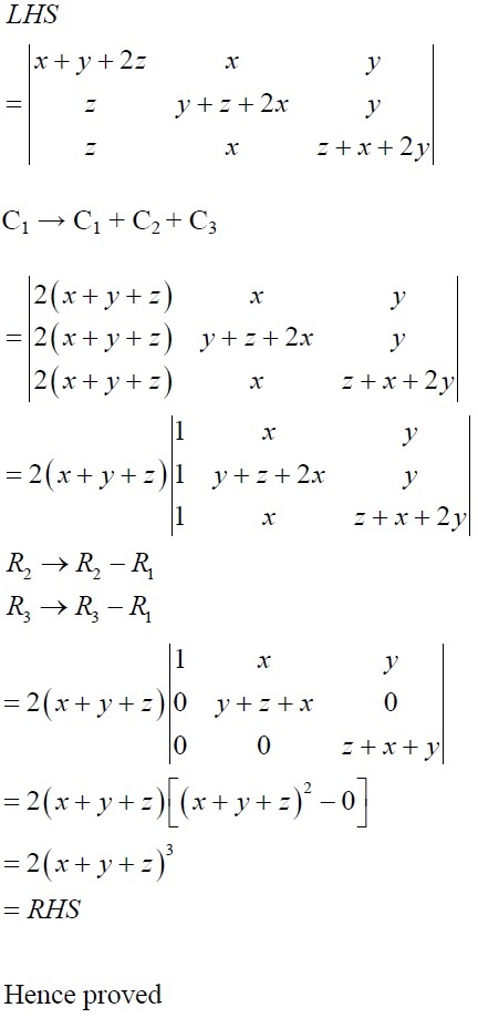 NCERT Solutions for CBSE Class 12 Mathematics ‒ Chapter 4: Determinant, Exercise 4.2 (Solution 11 - ii)