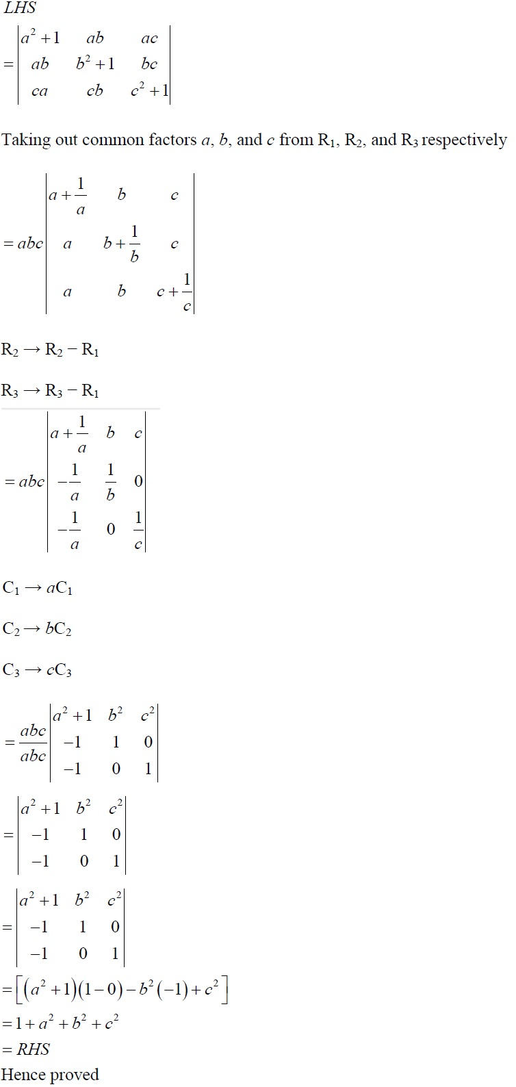 NCERT Solutions for CBSE Class 12 Mathematics ‒ Chapter 4: Determinant, Exercise 4.2 (Solution 14)