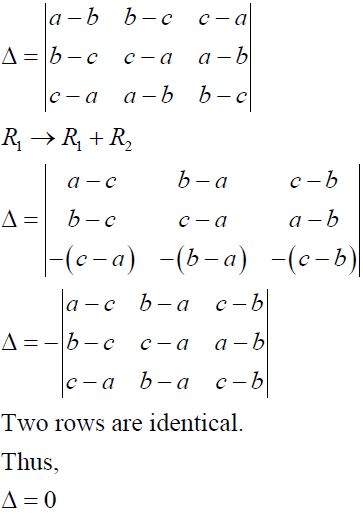 NCERT Solutions for CBSE Class 12 Mathematics ‒ Chapter 4: Determinant, Exercise 4.2 (Solution 2)