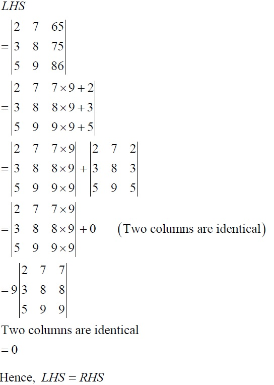 NCERT Solutions for CBSE Class 12 Mathematics ‒ Chapter 4: Determinant, Exercise 4.2 (Solution 3)