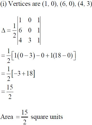 NCERT Solutions for CBSE Class 12 Mathematics ‒ Chapter 4: Determinant (Exercise 4.3), Solution 1 (i)