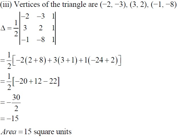 NCERT Solutions for CBSE Class 12 Mathematics ‒ Chapter 4: Determinant (Exercise 4.3), Solution 1 (iii)
