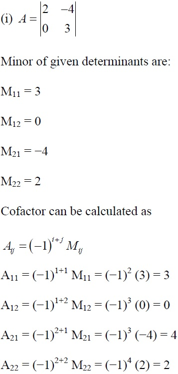 NCERT Solutions for CBSE Class 12 Mathematics ‒ Chapter 4: Determinant, Exercise 4.4 (Solution 1 - i)