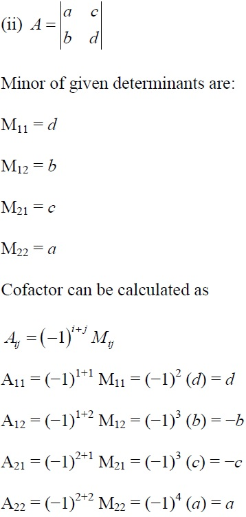 NCERT Solutions for CBSE Class 12 Mathematics ‒ Chapter 4: Determinant, Exercise 4.4 (Solution 1 - ii)