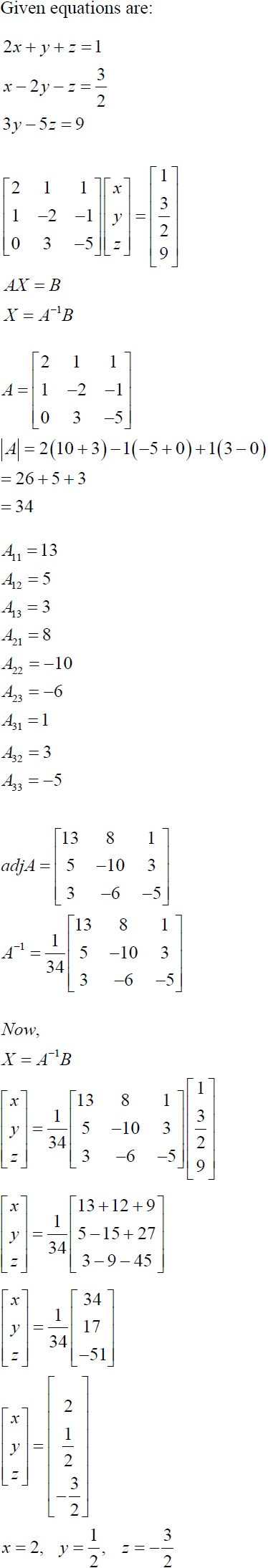 NCERT Solutions for CBSE Class 12 Mathematics ‒ Chapter 4: Determinant (Solution 11)