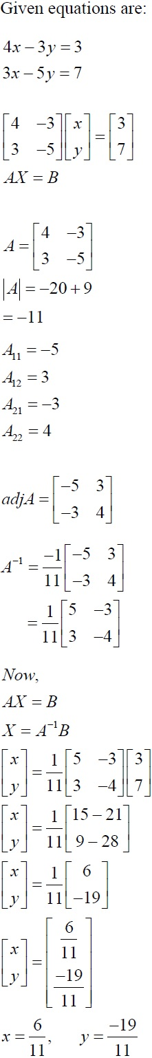 NCERT Solutions for CBSE Class 12 Mathematics ‒ Chapter 4: Determinant (Solution 9)