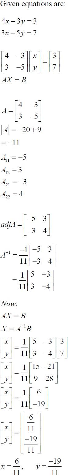 NCERT Solutions for CBSE Class 12 Mathematics ‒ Chapter 4: Determinant (Solution 9)