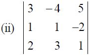 NCERT Solutions for CBSE Class 12 Mathematics ‒ Chapter 4: Determinant (Exercise 4.1, Question 5 - ii)