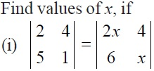 NCERT Solutions for CBSE Class 12 Mathematics ‒ Chapter 4: Determinant (Exercise 4.1, Question 7 - i)