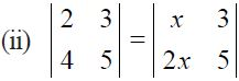 NCERT Solutions for CBSE Class 12 Mathematics ‒ Chapter 4: Determinant (Exercise 4.1, Question 7 - ii)