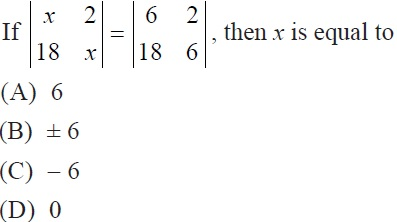 NCERT Solutions for CBSE Class 12 Mathematics ‒ Chapter 4: Determinant (Exercise 4.1, Question 8)