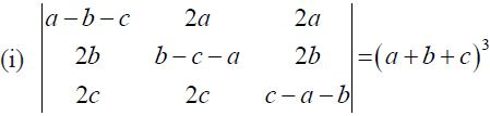 NCERT Solutions for CBSE Class 12 Mathematics ‒ Chapter 4: Determinant, Exercise 4.2 (Question 11 - i)