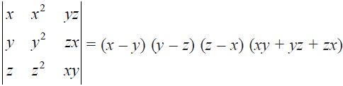NCERT Solutions for CBSE Class 12 Mathematics ‒ Chapter 4: Determinant, Exercise 4.2 (Question 9)