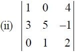 NCERT Solutions for CBSE Class 12 Mathematics ‒ Chapter 4: Determinant, Exercise 4.4 (Question 2 - ii)