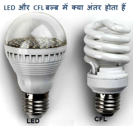 What is the difference between LED and CFL