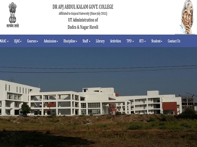 Dr. APJ Abdul Kalam Govt College Silvassa Recruitment 2020: Apply for Assistant Professor Posts