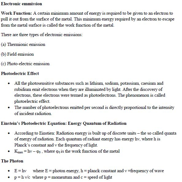 WBJEE Dual Nature of Radiation Concepts 1
