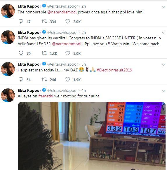 Ekta Kapoor Tweet