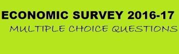 Economy Survey MCQs