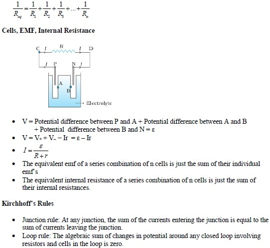 WBJEE Electric current concepts 2