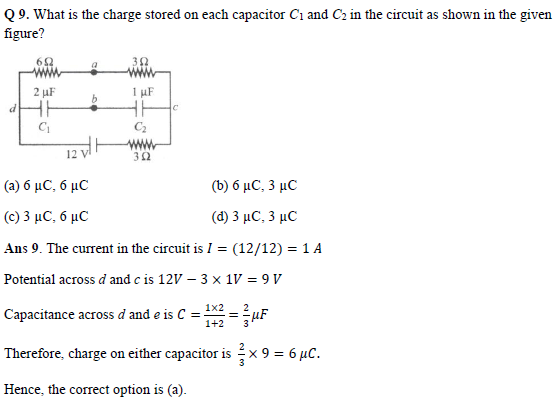 practice question of electric current and circuits