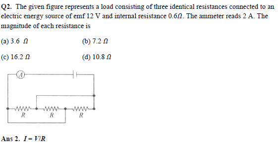 JEE Main Physics Practice Paper - Electric Current and Circuits