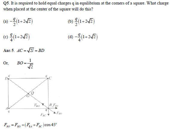 practice questions on electric field